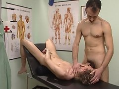 Two docs explore each other's hot bodies as they suck and fuck together