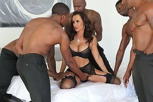 Perfectly Shaped White MILF Lisa Ann Is Fucked By Several Black Hot Blooded Studs Anysex Com Video