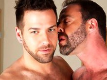 Hairy gay bears Dodger Wolf and Preston Steel fucking in the office