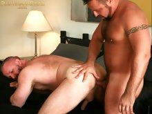 Hot bears Rik Kappus and Marc Angelo really ripped up the sheets in our DVD release, Bear Oasis, available in our online store. Watch them go at it li