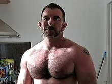 Mature gay sit back and video record himself jacking his cock