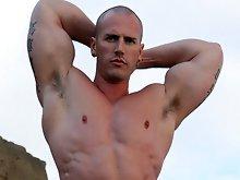 Logan Beach naked muscle man