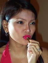 free asian gallery Pretty Filipina babe in red...