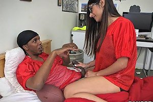Hardcore Interracial Fucking For A Nasty Indian Teen With Glasses