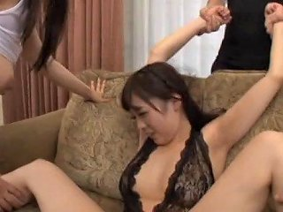 Long Hair Japanese Maiden Yelling While Her Hairy Pussy Is Ravished