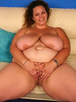 BBW Mona Mounds showing off her massive jugs and attract a black stud and lures him into pounding her pussy