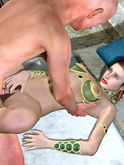 Sweetie gets titty fucked by Tentacle Monster