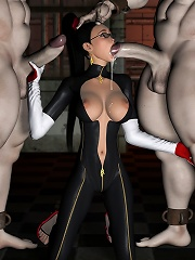 Elf Princess craves 3D Guys heavyweight cock