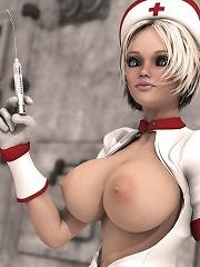 Pretty 3D dickgirl gets penetrated by Dark Elf
