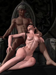 3D Whore penetrated by terrified Hentai lover