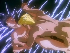 Horny anime gay couple pumping each other to the max