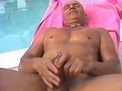 Poolside jerk with an old geezer