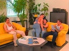 Jock foursome ram ass on the couch