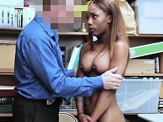 Ebony Teen Sarah Banks Fucked For Stealing