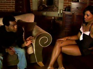 Charming Sydnee Capri Sucks  Standing On Her Knees