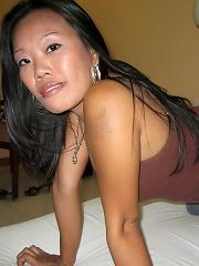 Pinay MILF Sandra fucks young white tourist in hotel