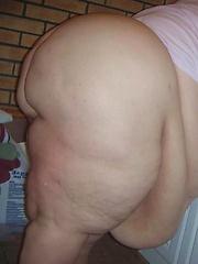 Large woman in panties