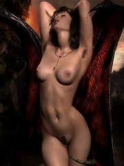 Princess strokes virgin...