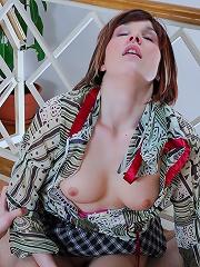 Upskirt girlie undergoes a fierce anal attack