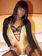 Sexy Black Tgirl with a big cock!