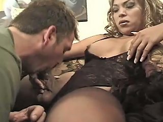 This Pervert Loves To Suck This Tranny's Cock And It Shows