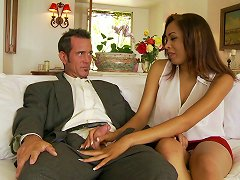 Boots Stay On As A Classy Gentlmen Bangs A Delicious Latina