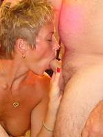 Swinger wives fuck and suck