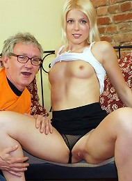 Horny Old Chap Bangs A Hot Beauty Teen Porn Pix