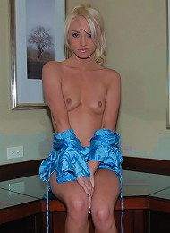 Kelly Strips Out Of Her Sexy Blue Dress. Teen Porn Pix