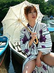 Asian kimono model