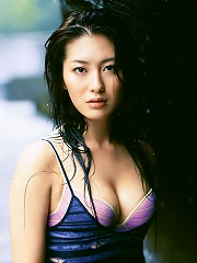 Long haired gravure idol with beautiful tits and a delicious body