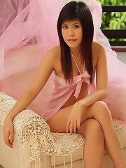 Nana Lee Strips Pink Babydoll And Panties
