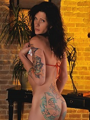 Brunette tgirl hotness Morgan Bailey posing