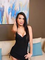Stunning Asian t-girl does hot striptease