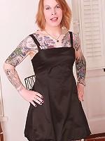 Horny tattooed and pierced beauty!