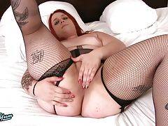 Red Haired Amira Passion Strokes Her Cock