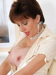 Cum covered milf tits