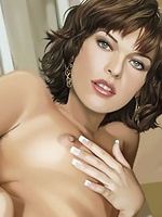Mila Jovovich tries porn