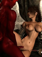 Passionate 3D Vigrin gets jizzed with hot cum