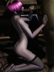 Fervent 3D Secretary in the mens room