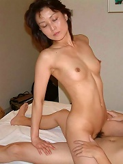 Sexy Japanese amateur wife gives a hot blowjob at home here