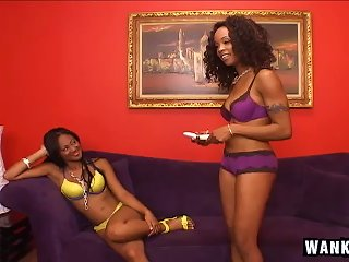 Black Lesbian Sweethearts Love Eating Moist Pussies